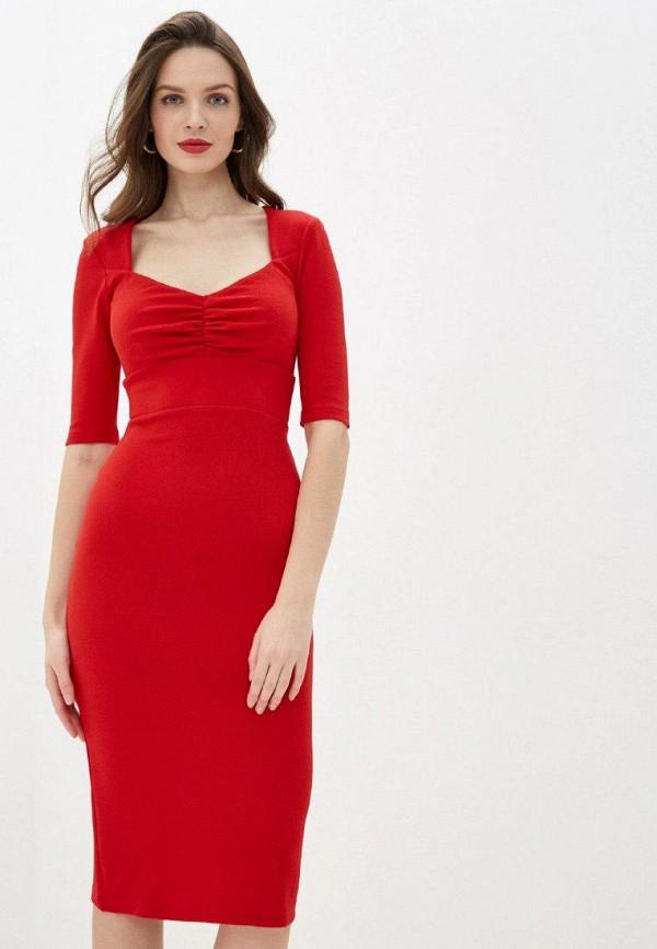 женское повседневные платье gepur, красное