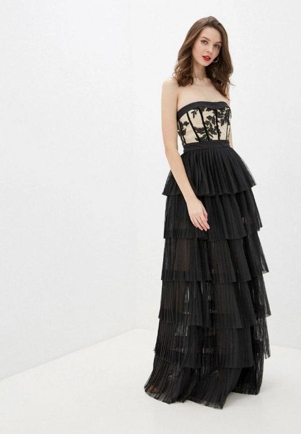 женское вечерние платье gepur, черное