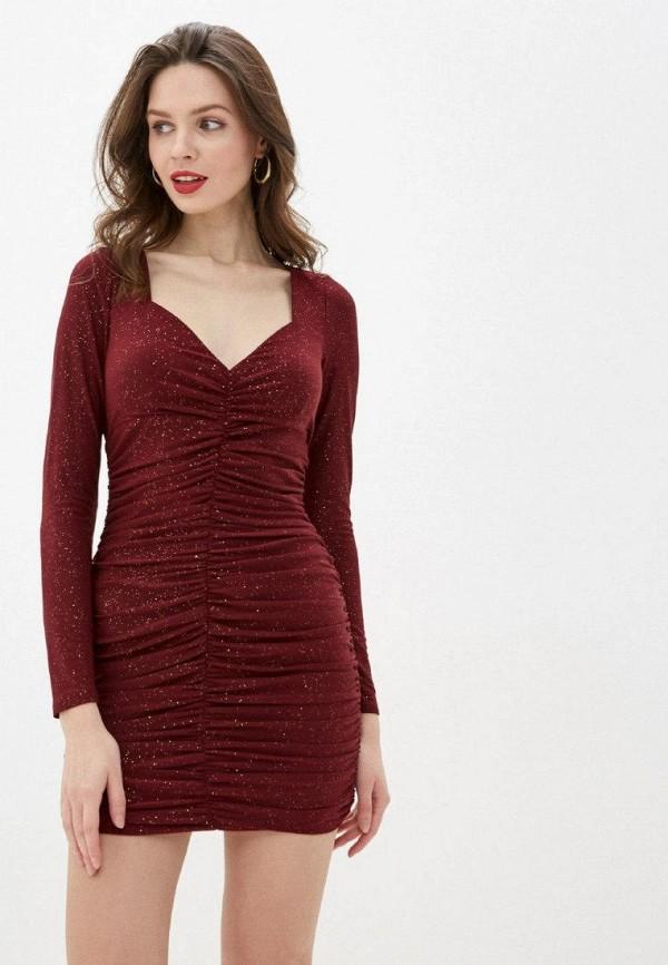 женское вечерние платье gepur, бордовое