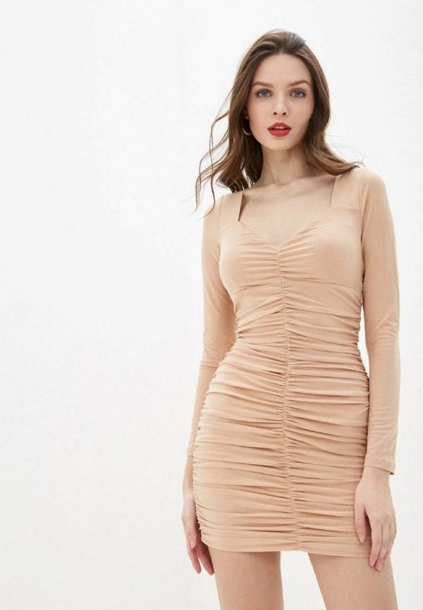 женское вечерние платье gepur, бежевое