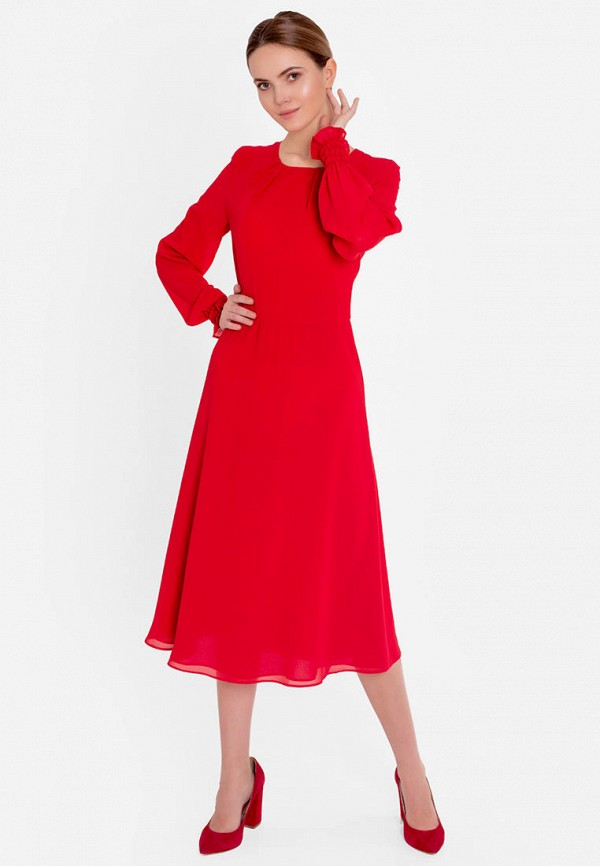 женское повседневные платье nai lu-na by anastasia ivanova, красное