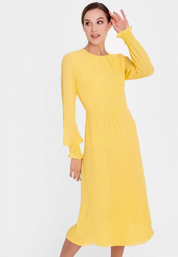 женское повседневные платье nai lu-na by anastasia ivanova, желтое