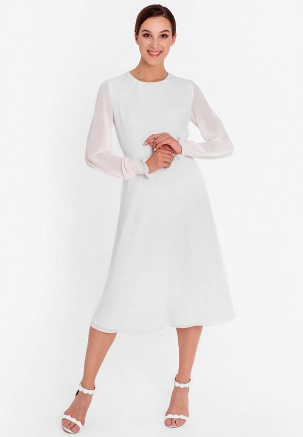 женское повседневные платье nai lu-na by anastasia ivanova, белое