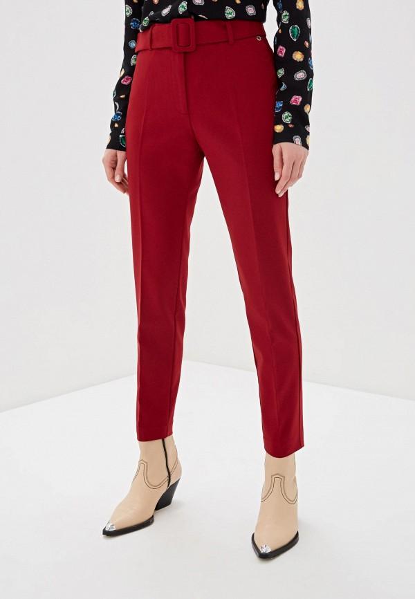 женские повседневные брюки top secret, красные
