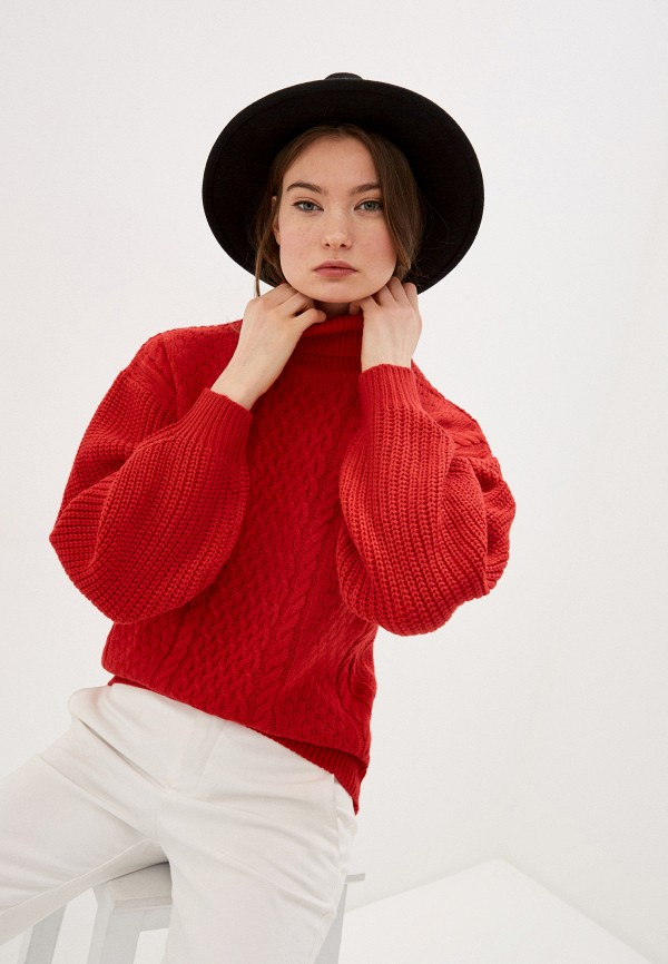 женский свитер incity, красный