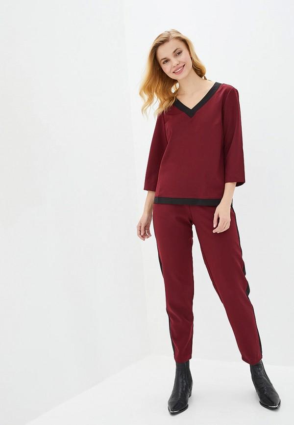 женский костюм german volf, бордовый