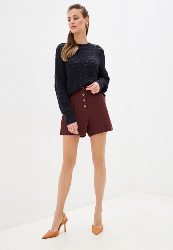Фото 2 - Женские шорты Befree бордового цвета