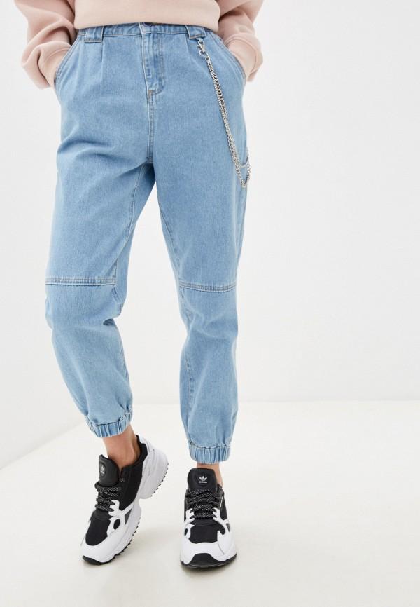 женские джинсы бойфренд befree, голубые