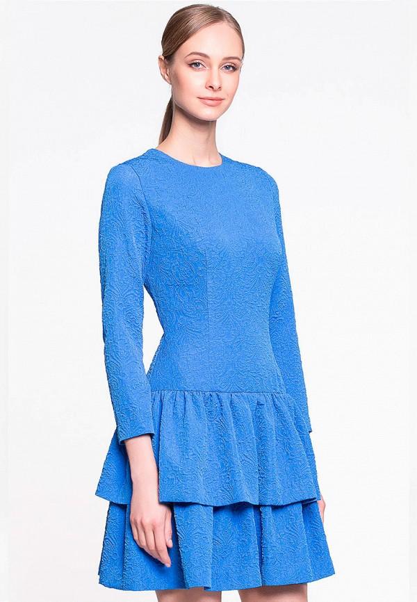женское повседневные платье genevie, голубое