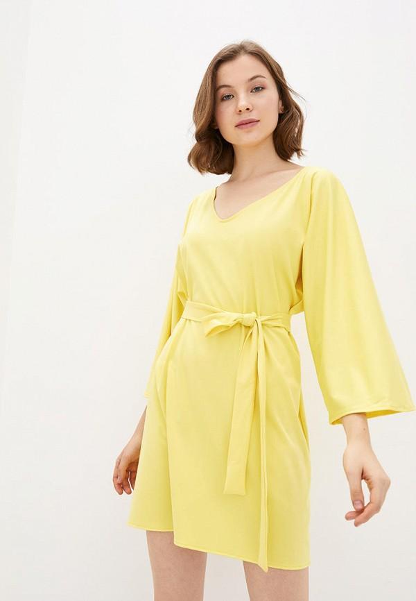 женское повседневные платье подіум, желтое