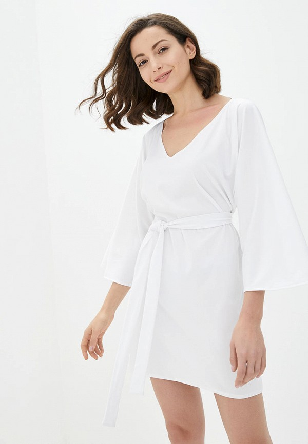женское повседневные платье подіум, белое