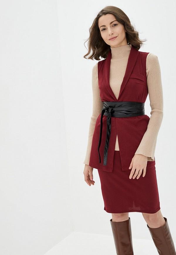 женский костюм подіум, бордовый
