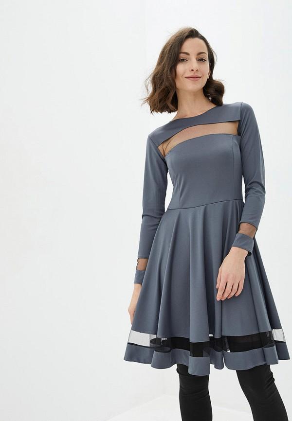 женское повседневные платье подіум, серое