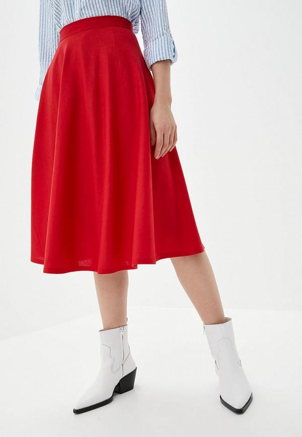 женская юбка подіум, красная