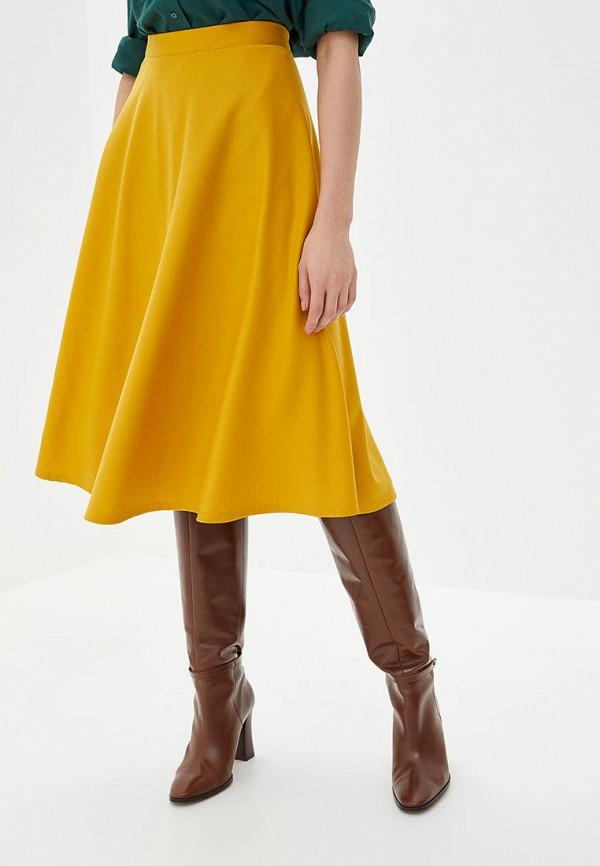 женская юбка подіум, желтая
