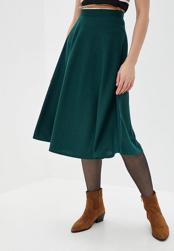 женская юбка подіум, бирюзовая