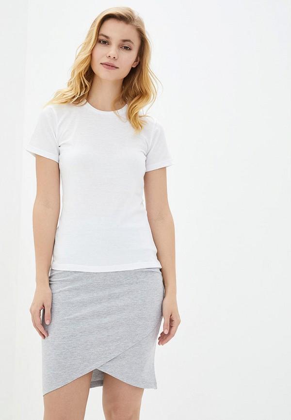 женская футболка роза, белая