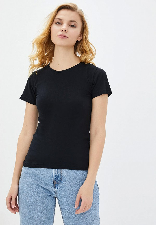 женская футболка роза, черная