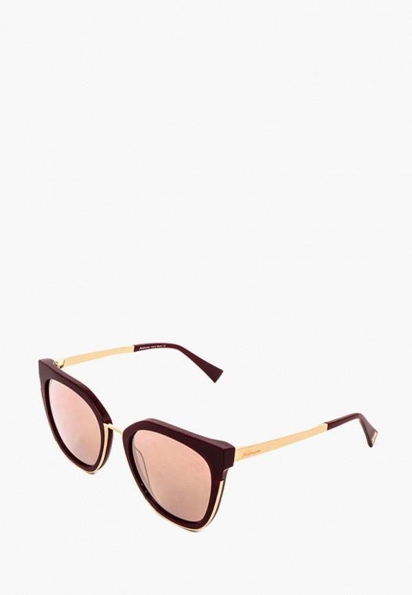 женские солнцезащитные очки ana hickmann, бордовые