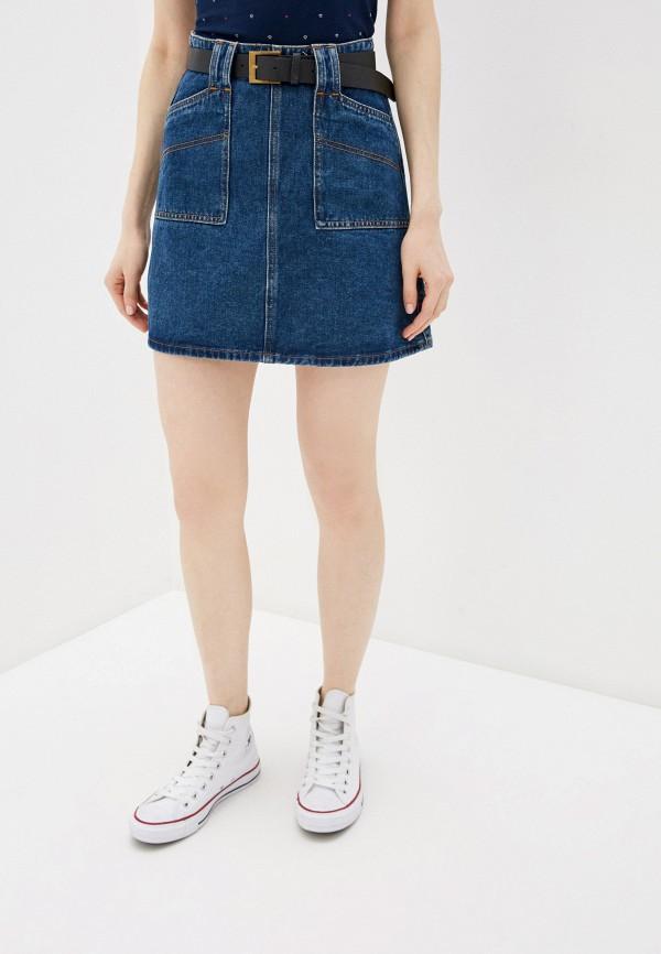 Фото - Юбку джинсовая Befree синего цвета