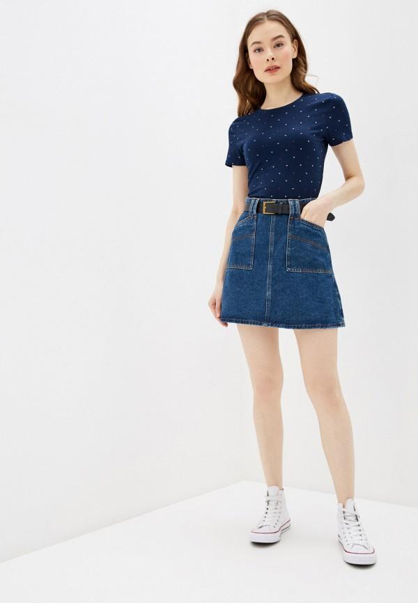Фото 2 - Юбку джинсовая Befree синего цвета
