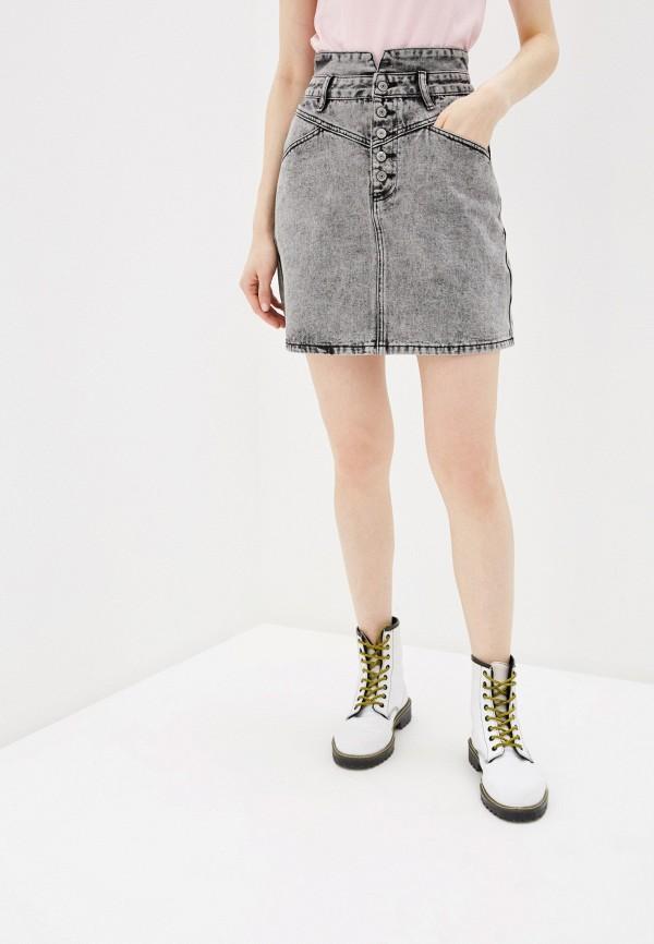 Фото - Юбку джинсовая Befree серого цвета