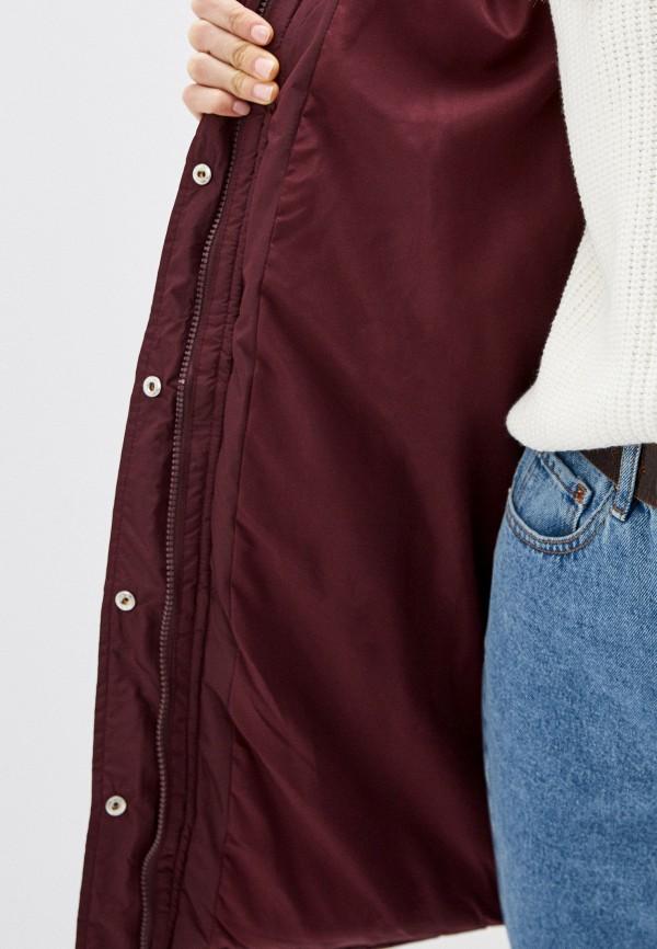 Фото 4 - Куртку утепленная Befree бордового цвета