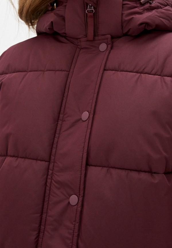Фото 5 - Куртку утепленная Befree бордового цвета