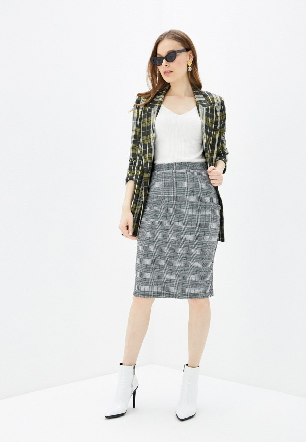 Фото 2 - Женскую юбку Befree серого цвета