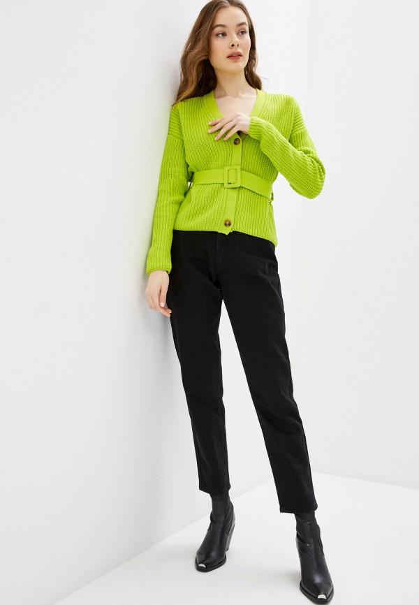 Фото 2 - Женский кардиган Befree зеленого цвета
