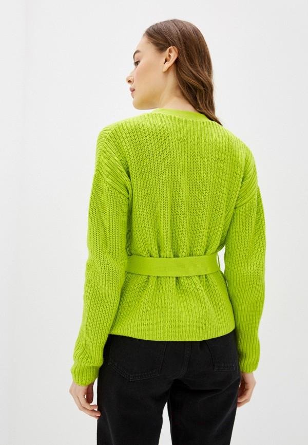 Фото 3 - Женский кардиган Befree зеленого цвета