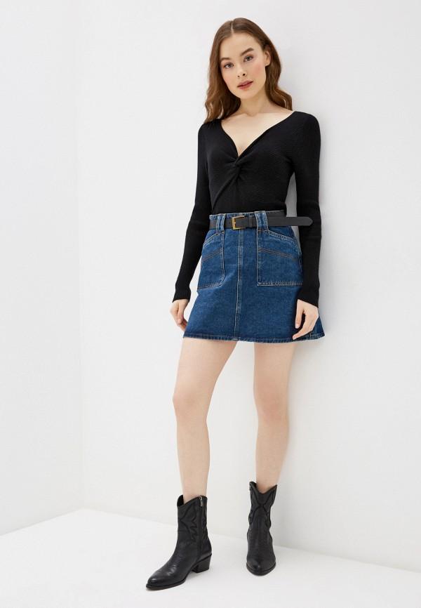 Фото 2 - Женский пуловер Befree черного цвета