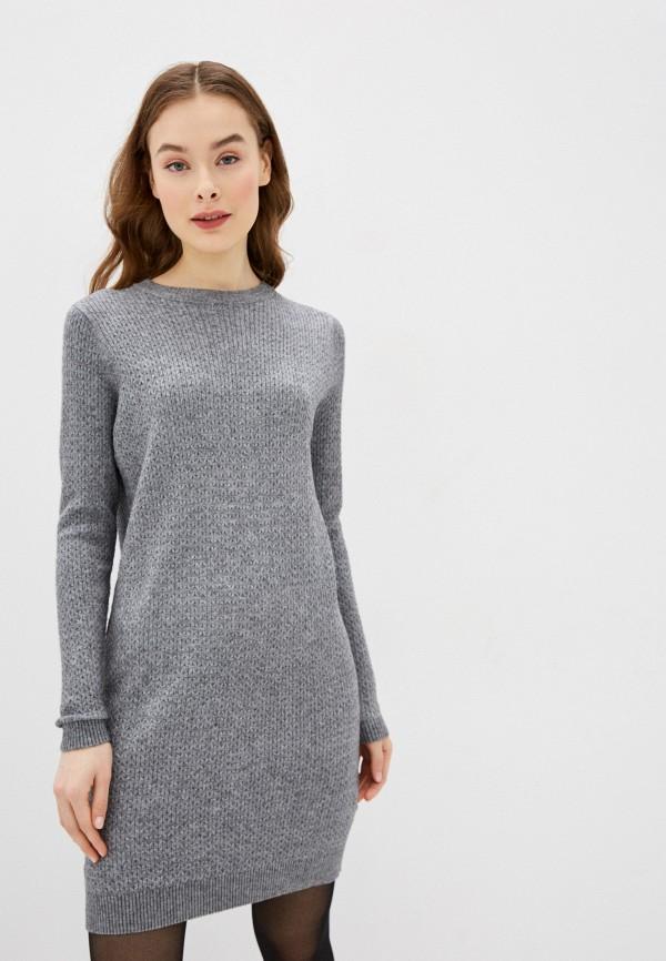 Фото - Женское вязаное платье Befree серого цвета