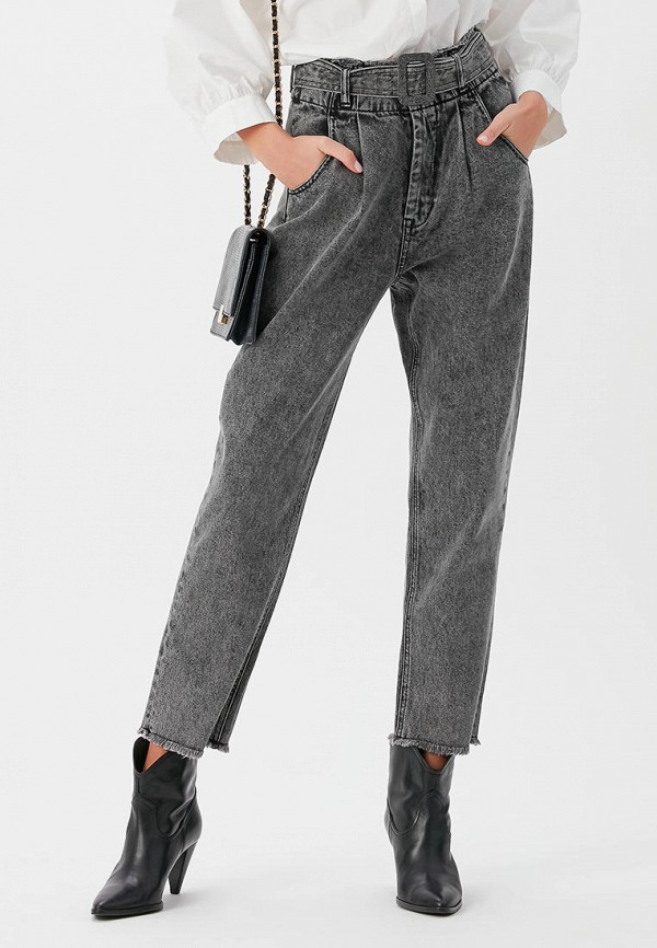женские джинсы бойфренд love republic, серые