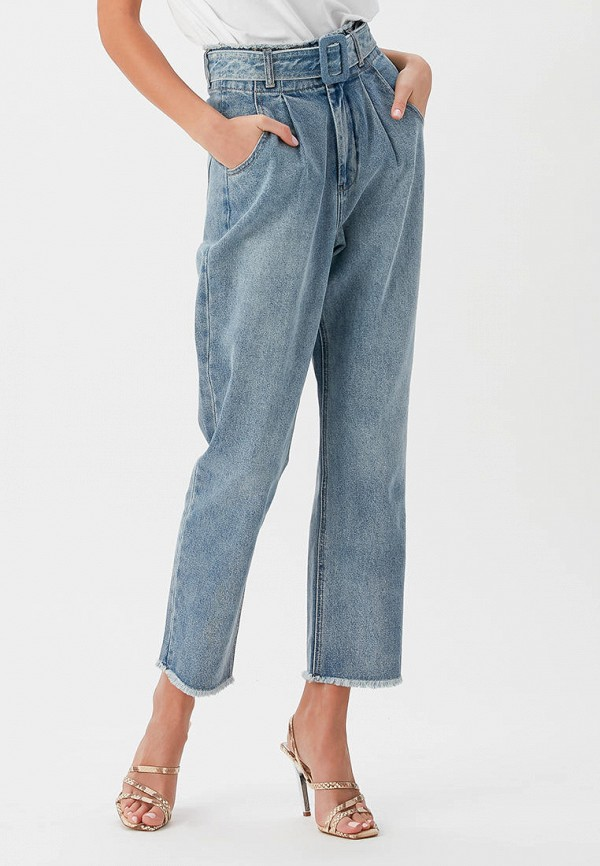 женские джинсы бойфренд love republic, голубые