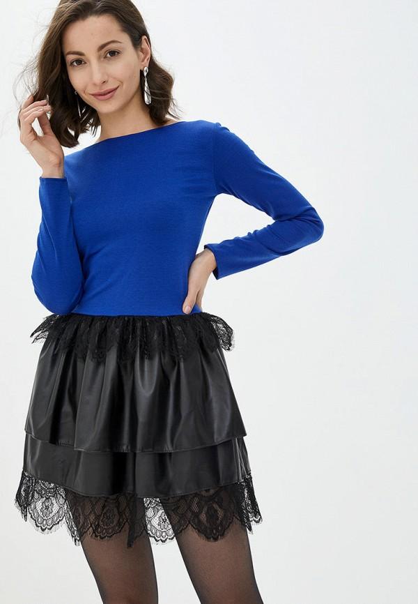 женское повседневные платье подіум, синее