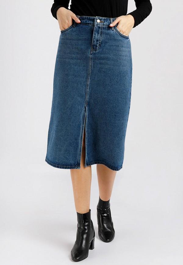 Юбка джинсовая Finn Flare синего цвета