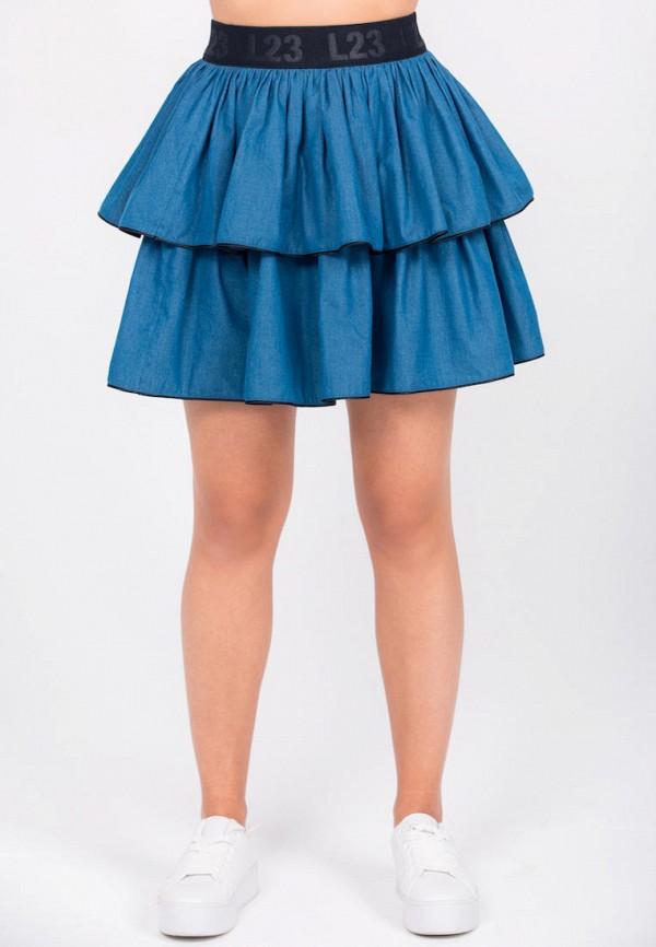 женская юбка l23, голубая