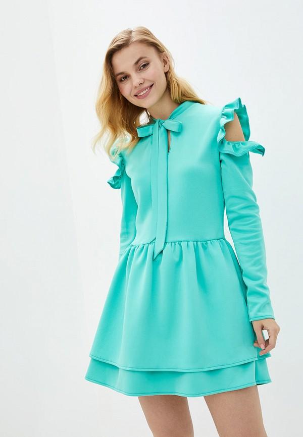 женское повседневные платье подіум, бирюзовое