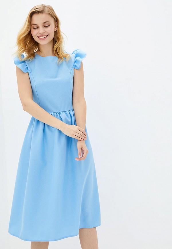 женское повседневные платье подіум, голубое