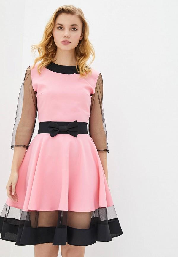 женское вечерние платье подіум, розовое