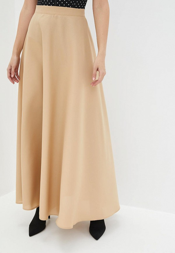 женская юбка подіум, бежевая