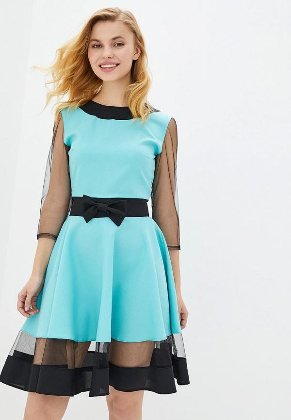 женское вечерние платье подіум, голубое