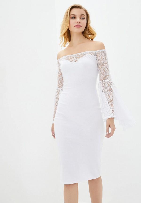 женское вечерние платье подіум, белое