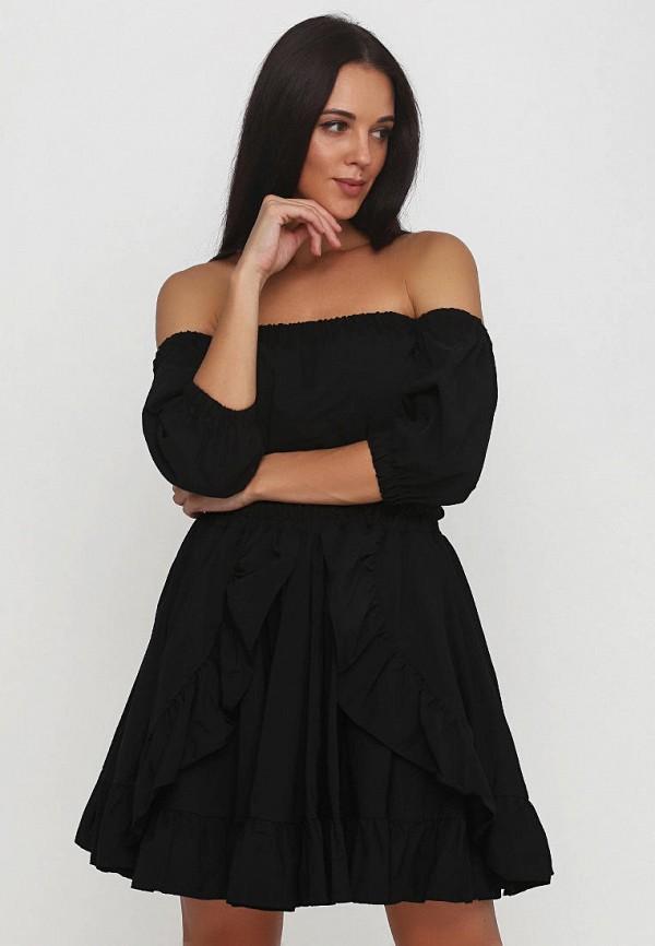 женский костюм подіум, черный