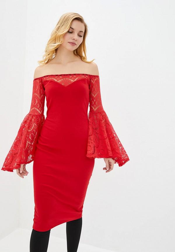 женское вечерние платье подіум, красное