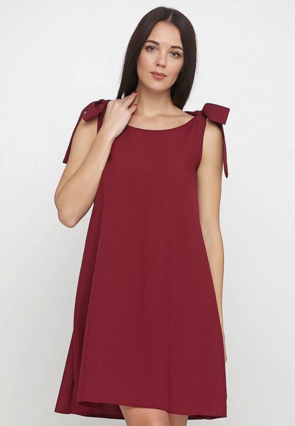 женское повседневные платье подіум, бордовое