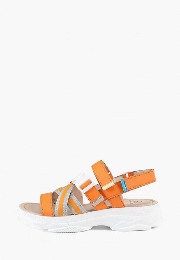 женские сандалии эконика, оранжевые