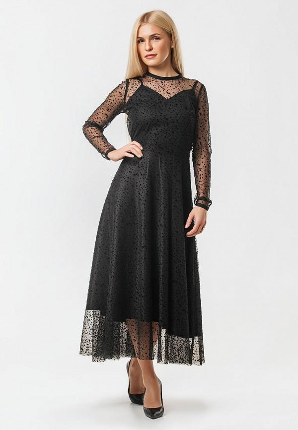 женское вечерние платье ornato, черное