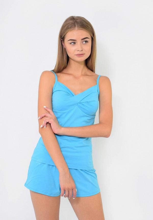 женская пижама n.el, голубая